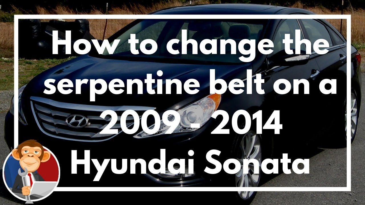 How to change a serpentine belt on 2009 - 2014 Hyundai Sonata 2.4L ...