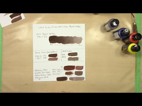 How to Mix Burnt Umber