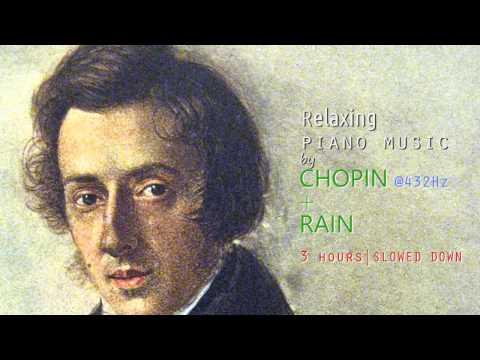 Relaxing Piano Music of Chopin + Rain @ 432Hz