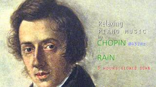 Relaxing Piano Music of Chopin + Rain @ 432Hz