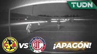 ¡Se fue la luz! Así terminó el primer tiempo | América 2 - 0 Toluca | Copa  por México | TUDN