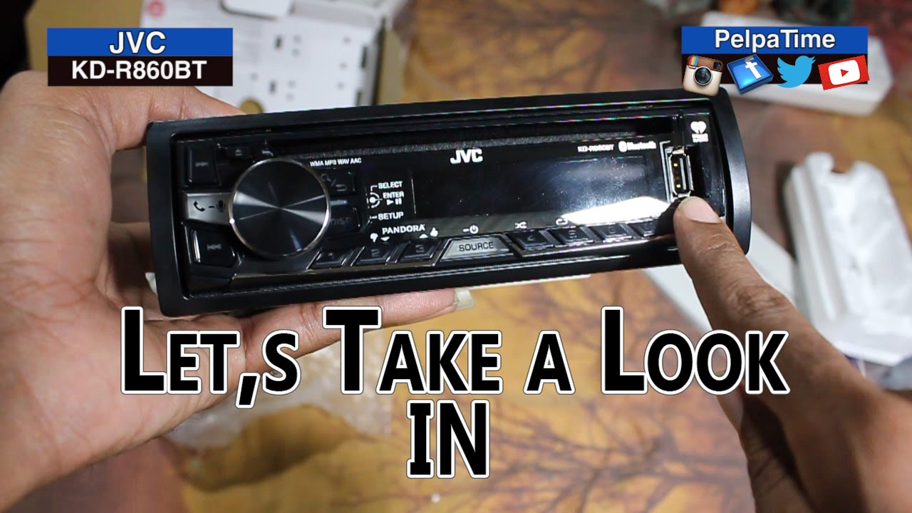 Jvc Kd R860bt Car Radio Part 1 Of 2
