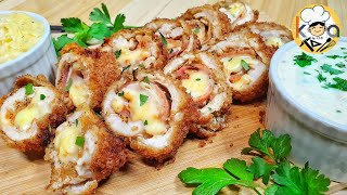 CHICKEN CORDON BLEU (WITH 2 SPECIAL SAUCES)