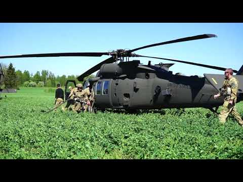DFN: Air Cav Partners with Estonia for Operation Hedgehog (B-Roll), VALGA, ESTONIA, 05.11.2018