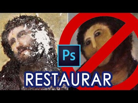 Cómo RESTAURAR UNA FOTO ANTIGUA con Photoshop CC /Tutorial thumbnail
