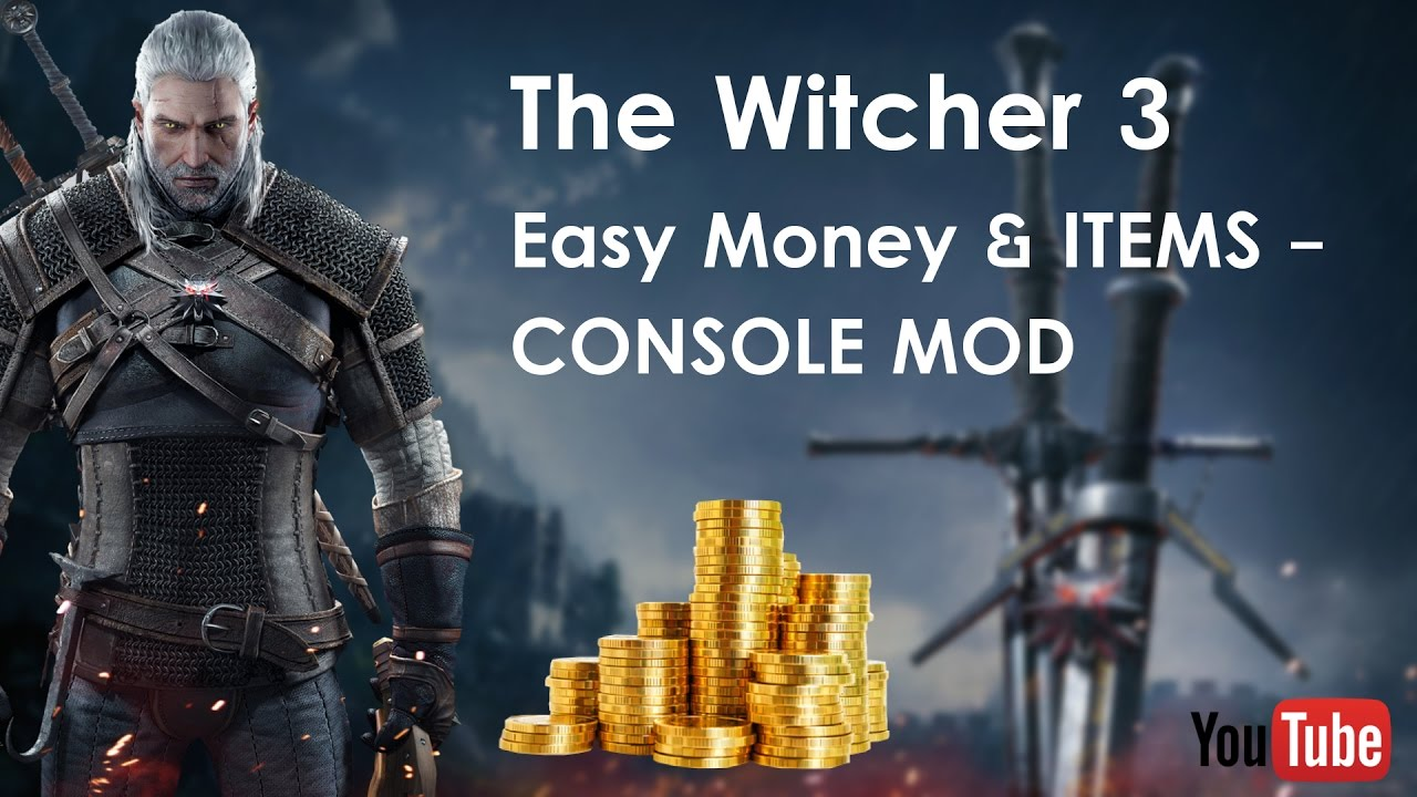 the witcher 3 hack cheat 2017 easy money console mode all versions youtube. Black Bedroom Furniture Sets. Home Design Ideas