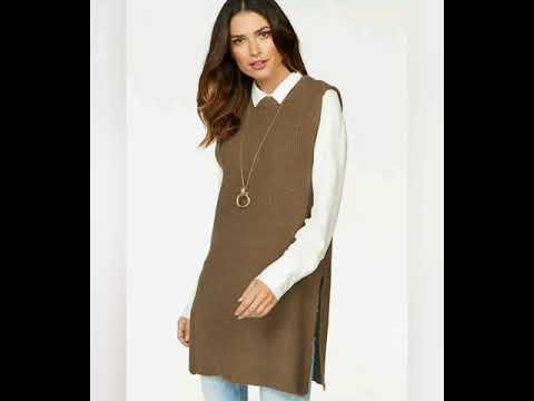 #Модные вязаные длинные жилеты#