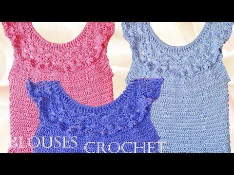 Blusa tejida a crochet - Make Knitting beautiful blouses for summer