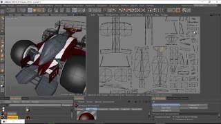 Моделирование автомобиля в Cinema 4D для Unity5 (speed modeling)