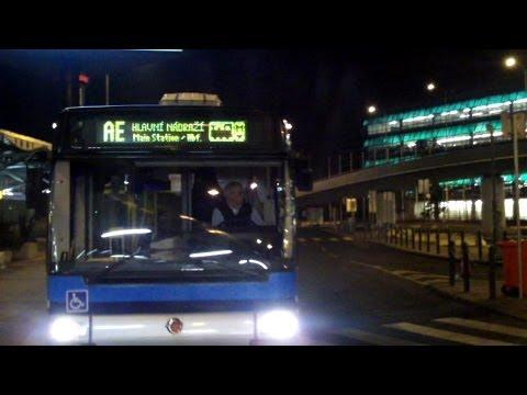 Prague Airport Bus to Main Rail Station