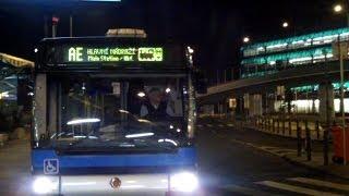 Prague Airport Bus AE to Main Rail Station