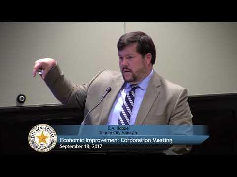Economic Improvement Corporation - September 18, 2017