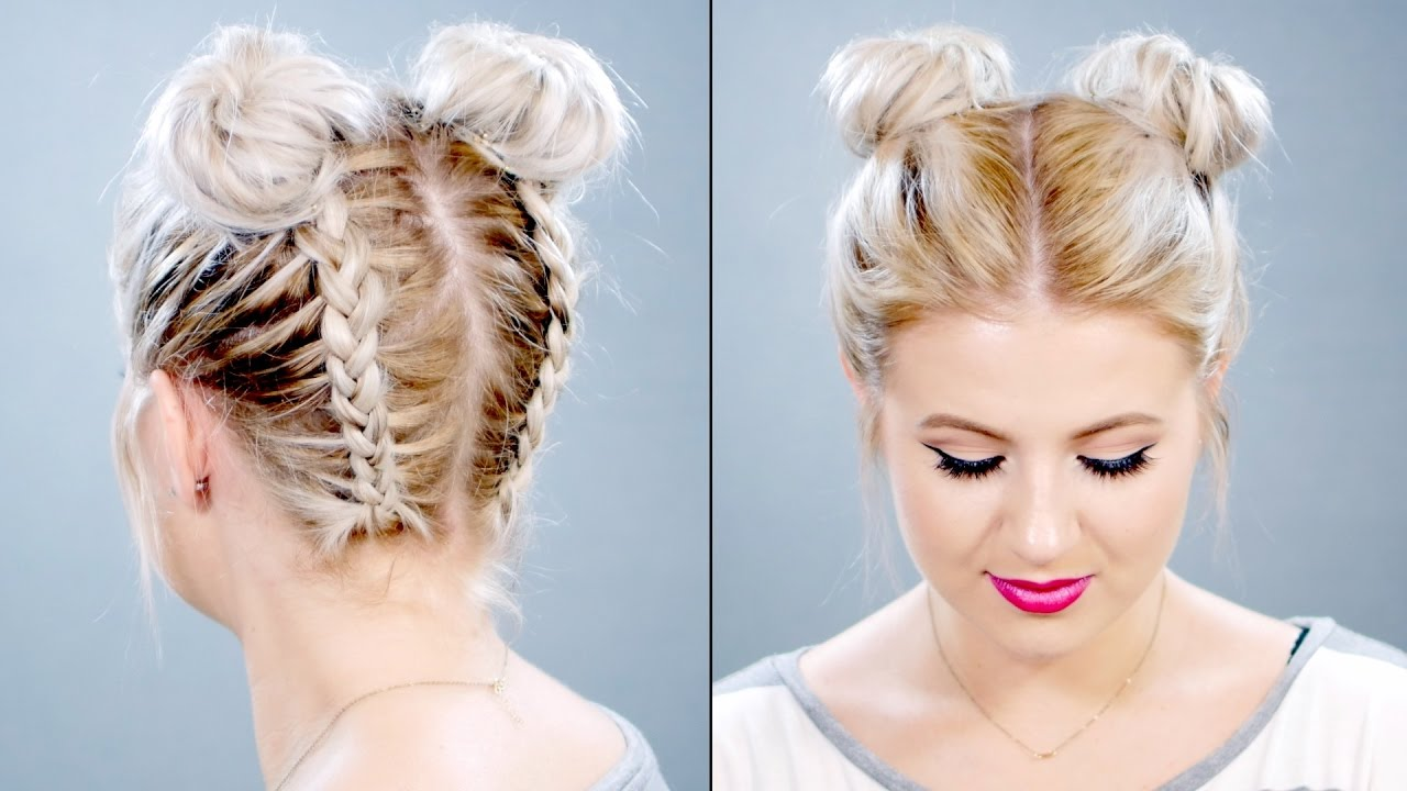 bun styles for medium hair how to braided space buns on hair milabu 3529 | maxresdefault