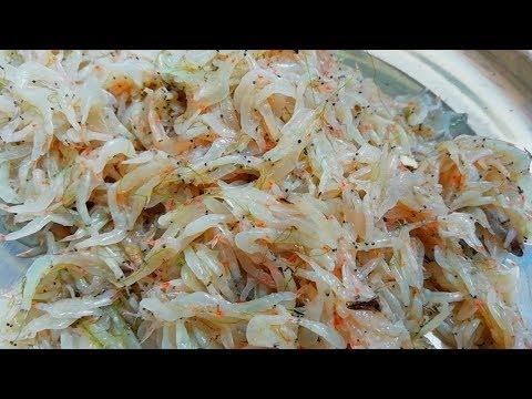 Cooking Baby Shrimp With Tamarind Leaves - Baby Prawns Tamarind Leafs Curry Recipe - Village Food