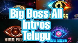 Big Boss All Intros Telugu With Bgm