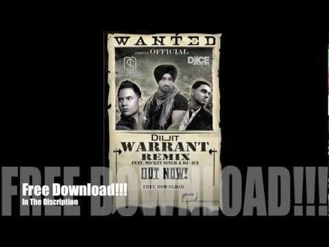 Diljit - Warrant Ft. Mickey Singh & Dj Ice (Official Remix) Punjabi New 2011 June