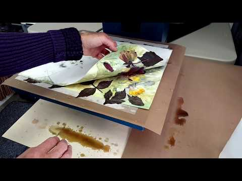 Heat Pressing Dahlia Flowers | Eco Printing | Eco Steaming | Nature Dyed Paper