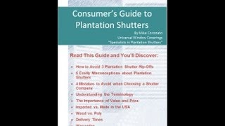 Plantation Shutters Dallas Tx | Don't Buy Plantation Shutters!