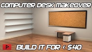 How To Build a Custom Computer Desk For Less Than 40 (Versatile's Desk Make Over)
