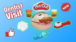 Pretend Play Dentist with Play Doh Head   Learning Videos for kids  KyreeLand