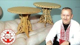 Резьба по дереву. Деревянная миниатюра 1/12  своими руками. Ч-2