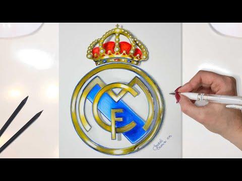 Real Madrid Logo Drawing