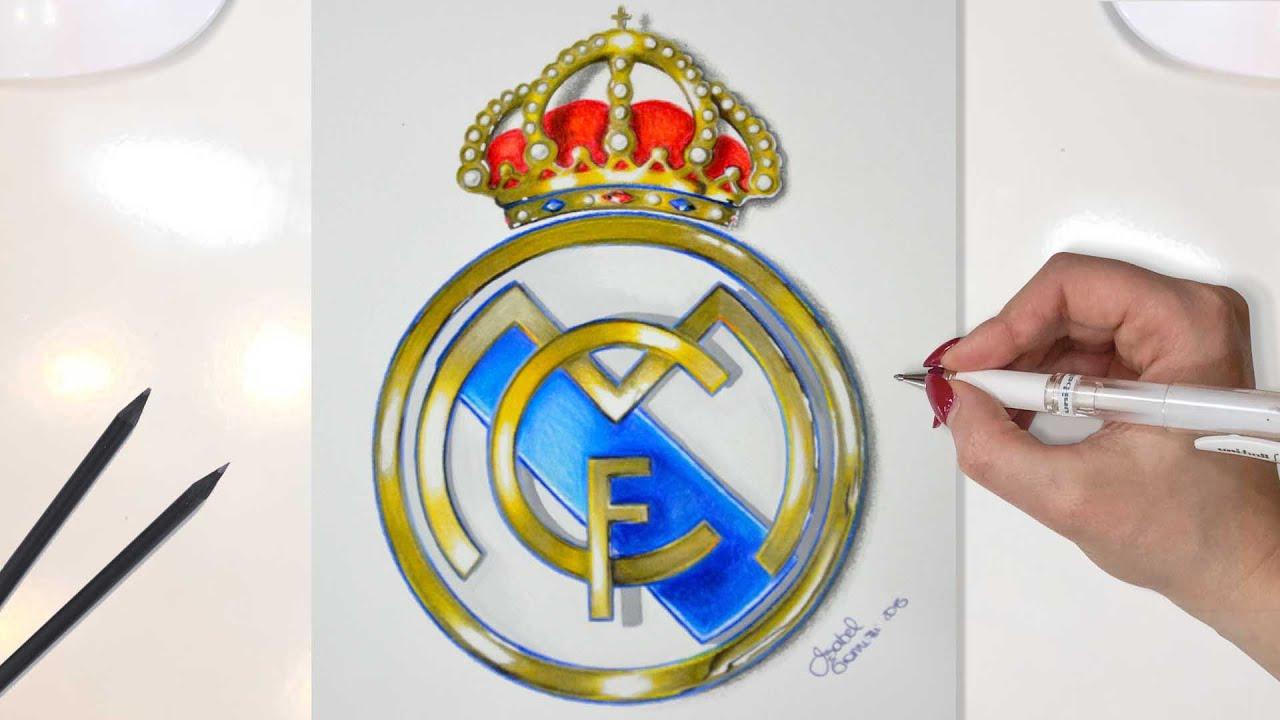 real madrid logo drawing youtube