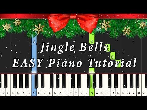 Jingle Bells EASY Piano Tutorial | Notes & MIDI | Christmas Song