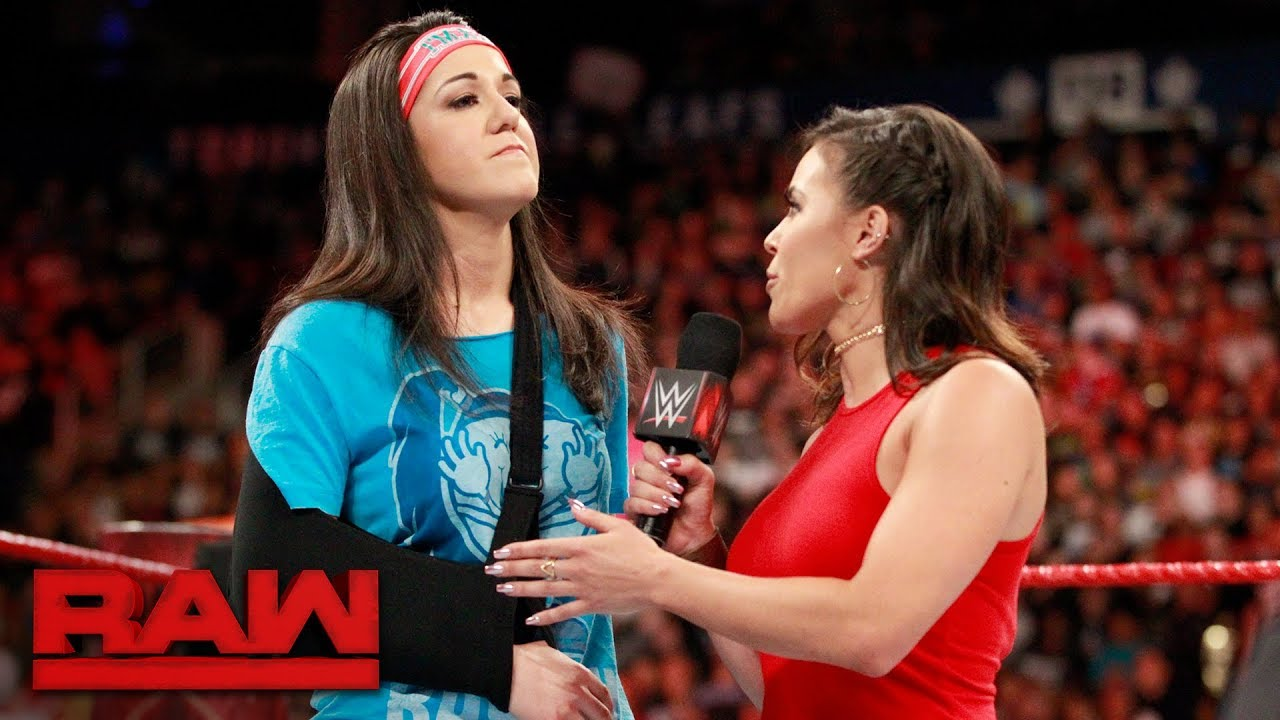 Image result for Bayley out of SummerSlam addresses her injury on RAW