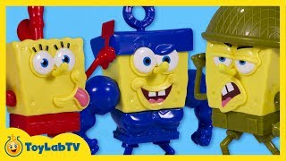 SpongeBob Sponge Out of Water Toys with Pop-A-Part SpongeBob Squarepants Toy Opening