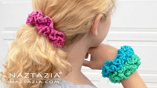 How to Crochet Scrunchies - Inspired by VSCO Girl Trend Hair Scrunchie