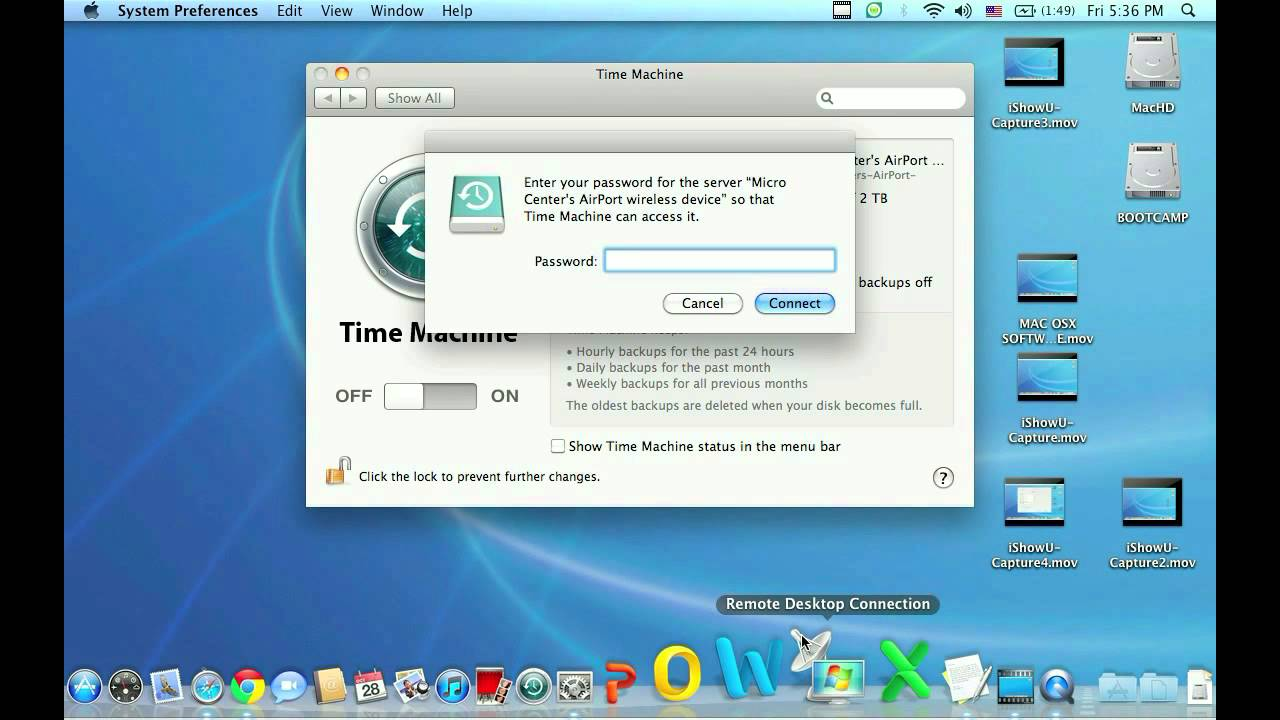 how to create time machine backup