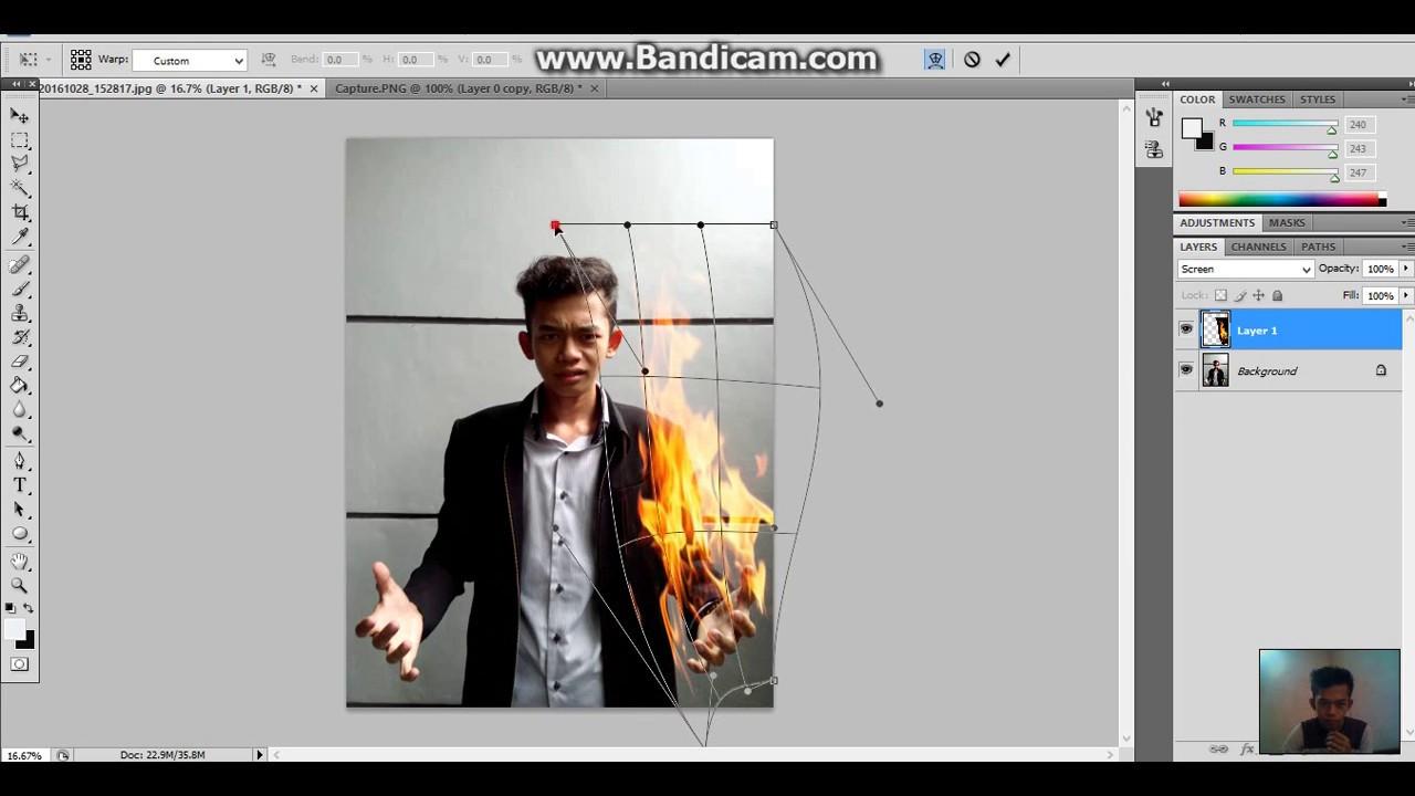 Tutorial membuat efek api di photoshop Cs3,Cs4,Cs5,Cs6 ...