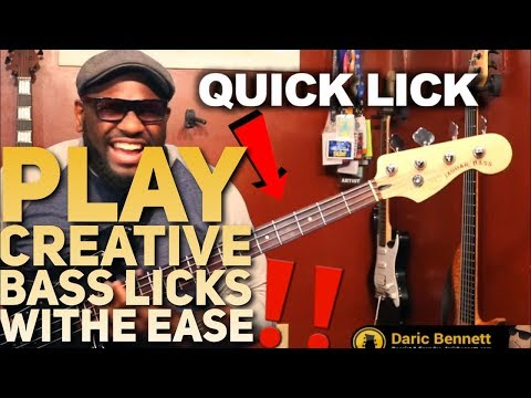 PLAY CREATIVE BASS LICKS WITH THIS TRICK | Quick Lick Lesson Series ~ Daric Bennett's Bass Lessons