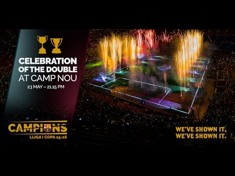 FC Barcelona: Celebrations for the double at Camp Nou