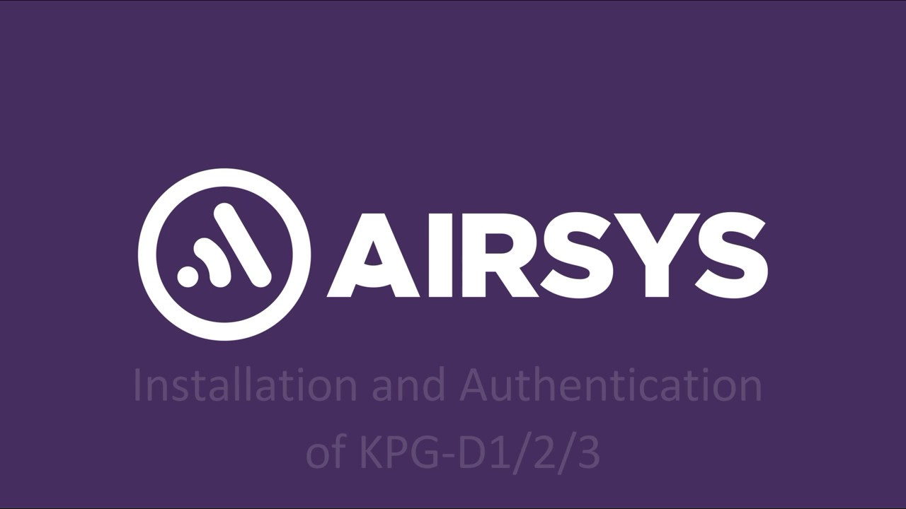 KPG-D3 Software FPU Installation and Authentication