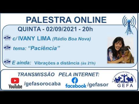Assista: Bate-papo online - c/ IVANY LIMA (02/09/2021)