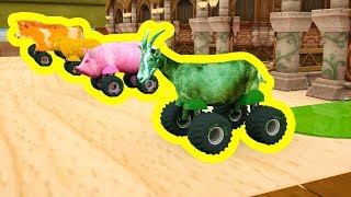 Learn Colors with Animal Truck for Kids, Learn Animals for Children, Cartoon for Kids