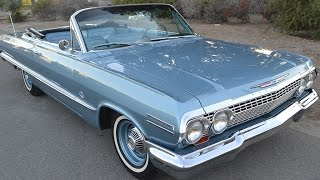 SOLD 1963 Concours Condition Impala Convertible for sale by Corvette Mike