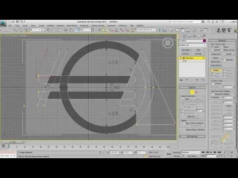 3d max tutorial - euro symbol