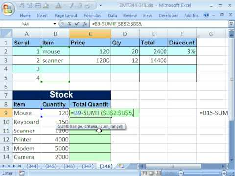 Excel Magic Trick 348 Formula For Unit Inventory Total SUMIF