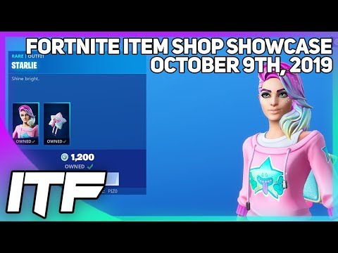 Fortnite Item Shop *NEW* STARLIE SKIN! [October 9th, 2019] (Fortnite Battle Royale)