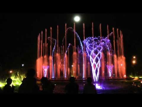 """Budapest Margaret Island Musical Fountain - """"Money for Nothing"""" (Dire Straits))"""