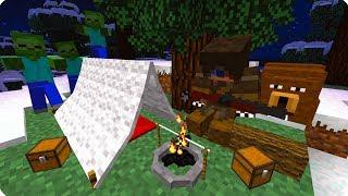 ЯДЕРНАЯ ЗИМА? ВЫЖИВАНИЕ В ЛЕСУ! ЧАСТЬ 2. ЗОМБИ АПОКАЛИПСИС В МАЙНКРАФТ! - (Minecraft - Сериал)