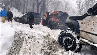 EXTREME SNOW OFF ROAD DAY  **Land Rover - Jeep - Toyota**