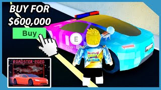 Buying The Fastest Car in Roblox Jailbreak