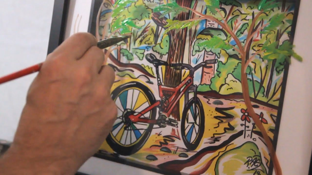 PAINTING A 3D MOUNTAIN BIKE RAEART SHOW CATS CATS CATS ...