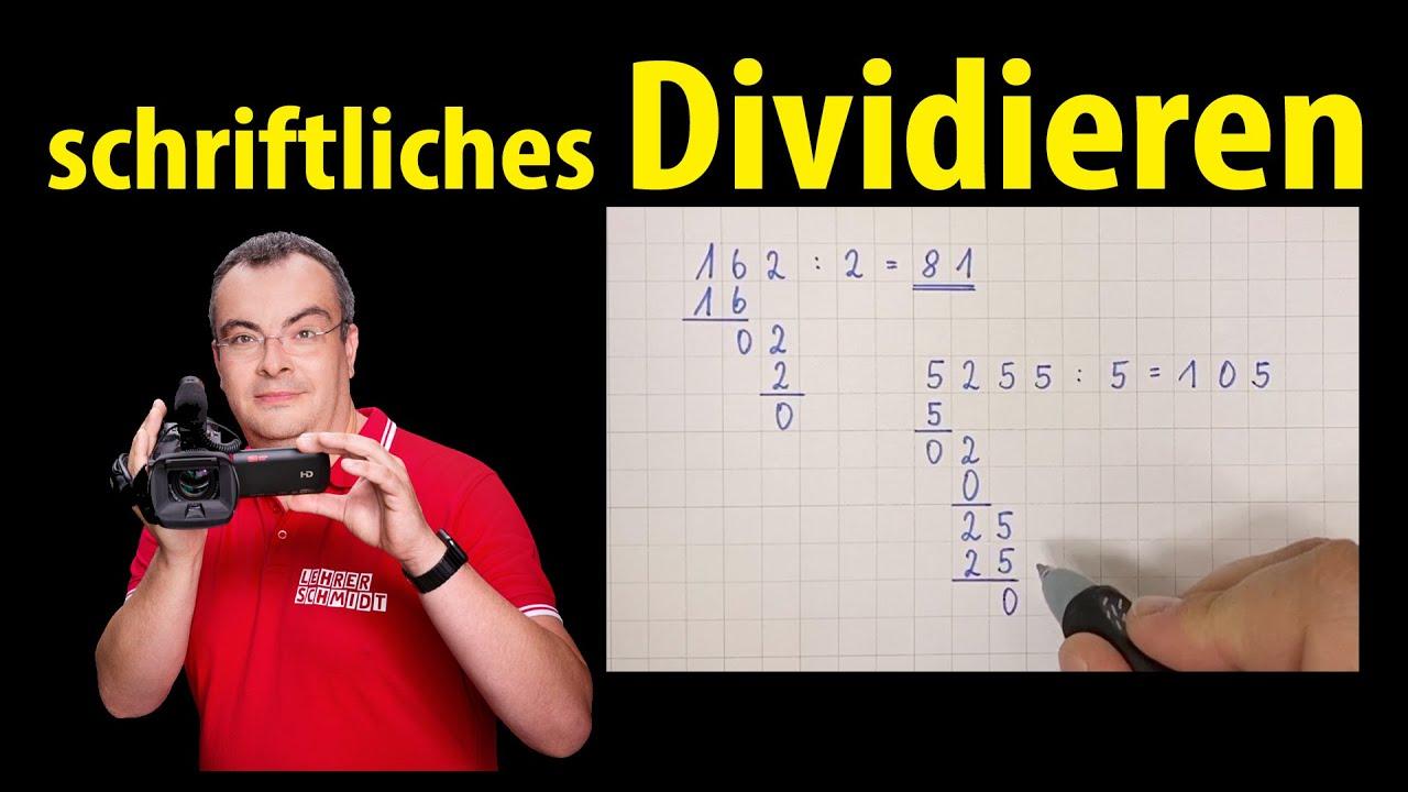 schriftliches Dividieren   ganz einfach erklärt   Lehrerschmidt