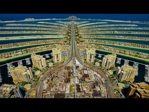 Fly high above Dubai - The World Island, Atlantis, The Palm-4K UHD Phantom 3 drone