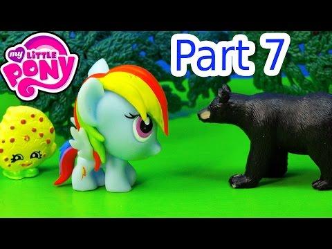 MLP Fash'ems Rainbow Dash Shopkins Wild BEAR ROAD TRIP RV Camper My Little Pony Video Part 7